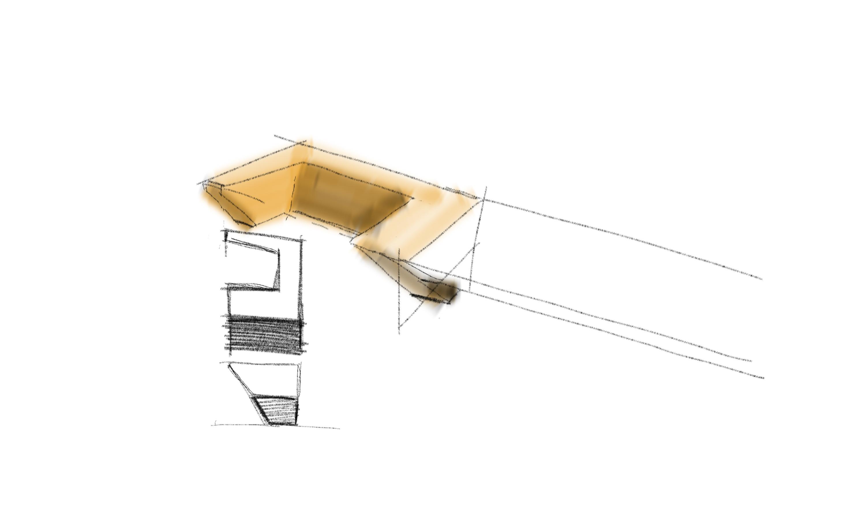 Estudo de design para puxador