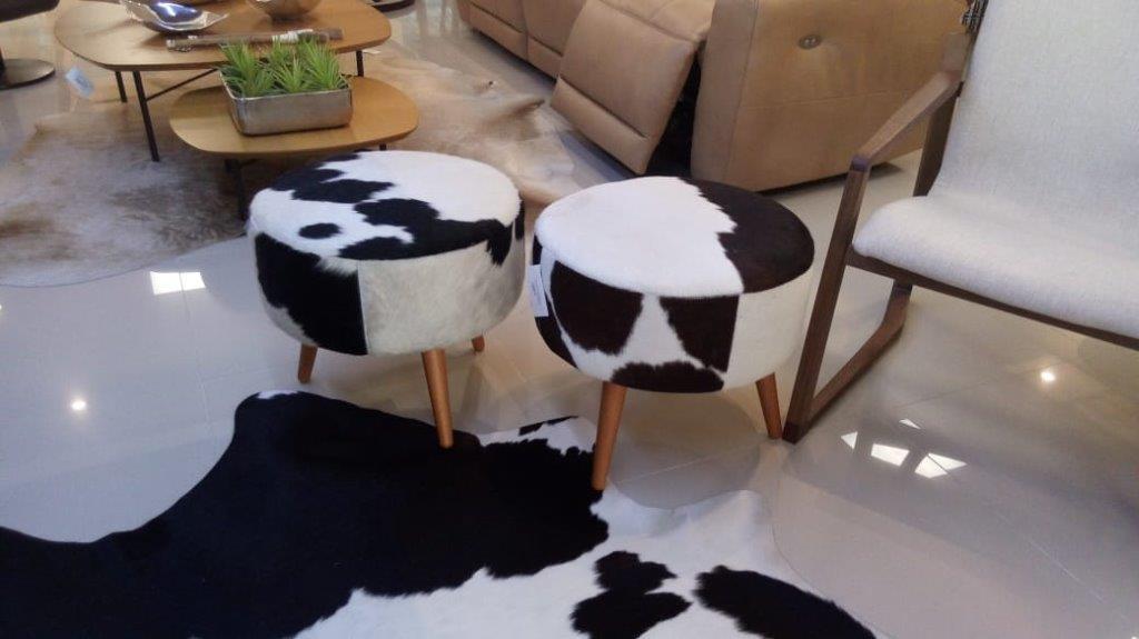 puff preto e branco