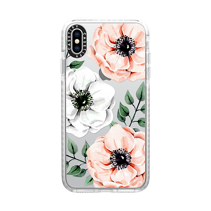 Casetify iPhone Impact Case Xs Max, Frost Watercolor Anemones