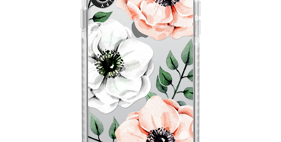 Casetify iPhone Xs Max Impact Case, Frost Watercolor Anemones
