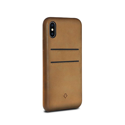 Twelve South Relaxed Leather with Pockets iPhone X/Xs, Cognac