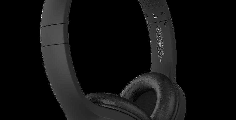iFrogz Audio Resound Wireless Bluetooth Headphone with Mic, Black