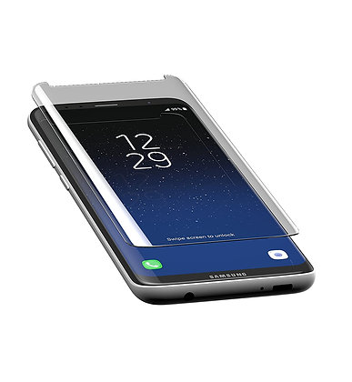 InvisibleShield Glass Contour Samsung Galaxy S8, Screen Clear