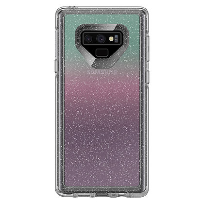 OtterBox Symmetry Clear Galaxy Note 9, Graphic Gradient Energy