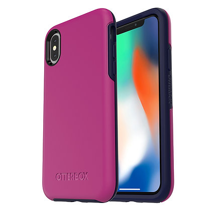 OtterBox Symmetry Series iPhone X, Mix Berry Jam (Rouge/Blue)