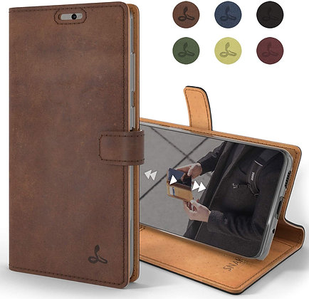 Komass Samsung Galaxy Note20 Ultra 5G Flip Case, Brown