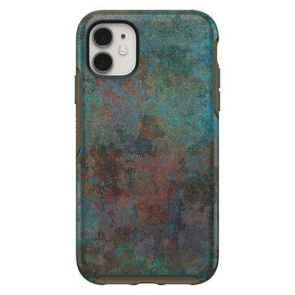 OtterBox Symmetry Series iPhone 11, Feeling Rusty (Blue/Bronze)