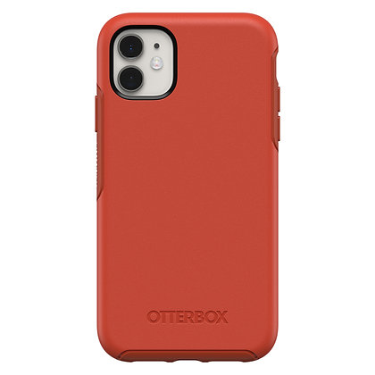 OtterBox Symmetry Series iPhone 11, Risk Tiger (Red/Pumpkin)