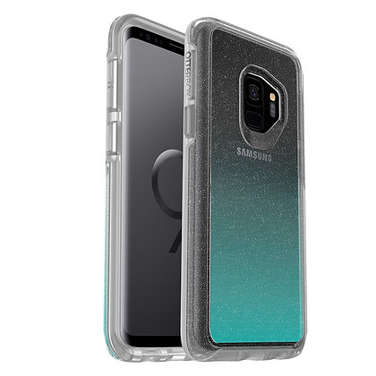 OtterBox Symmetry Clear Samsung Galaxy S9, Graphic Aloha Ombre (Flake/Clear)