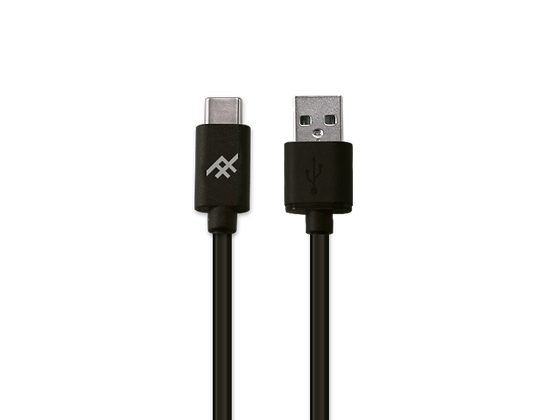 iFrogz Unique Sync USB-C 3.1 To USB-A 3.1 Cable, 1.8M Black