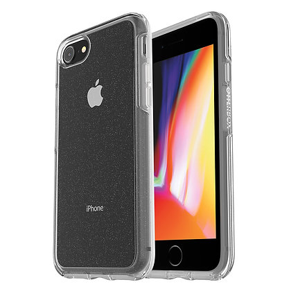 OtterBox Symmetry Clear Series iPhone SE/8, Stardust (Flake/Clear)