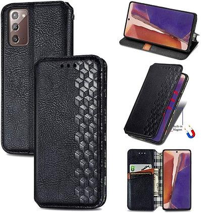 Komass Samsung Galaxy Note20 5G Flip Case, Black