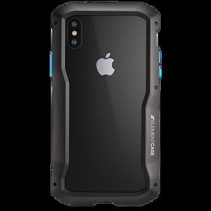 """Element Case iPhone Xs 5.8"""" Vapor S, Black"""