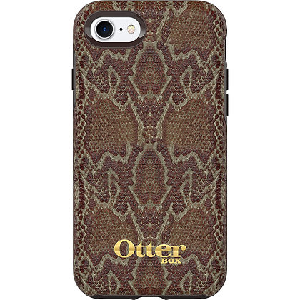 OtterBox Symmetry (Leather) w/ Alpha Glass iPhone 7/8/SE, Wooded Serpent