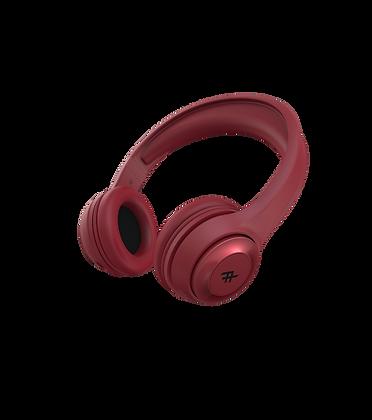 iFrogz Audio Aurora Wireless Bluetooth Headphone with Mic, Red