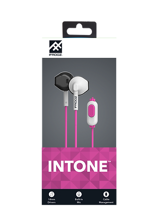 iFrogz Audio InTone Wired Earbuds with Mic, Pink