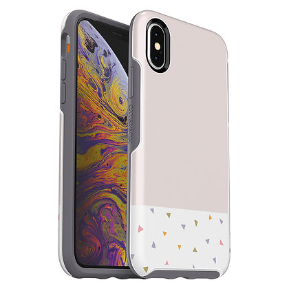 OtterBox Symmetry Series IML iPhone Xs, Party Dip (White/Excalibur/Graphic)