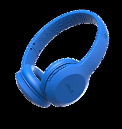 iFrogz Audio Resound Wireless Bluetooth Headphone with Mic, Blue