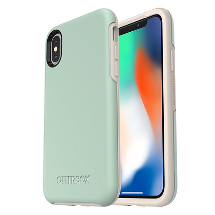 OtterBox Symmetry Series iPhone X, Muted Waters (Surf/Silver)