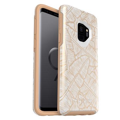 OtterBox Symmetry IML Samsung Galaxy S9, Throwing Shade (Whte/Tan/Shade)