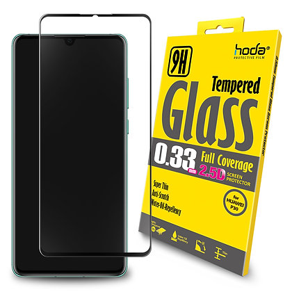 Hoda Huawei P30 Tempered Glass, 2.5D Full Coverage