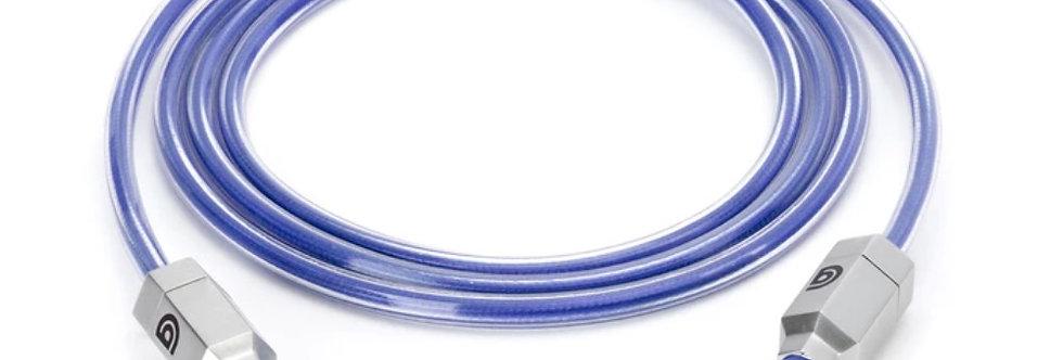 Griffin Survivor AUX Cable with Flexible Nylon-Braided Design, Blue