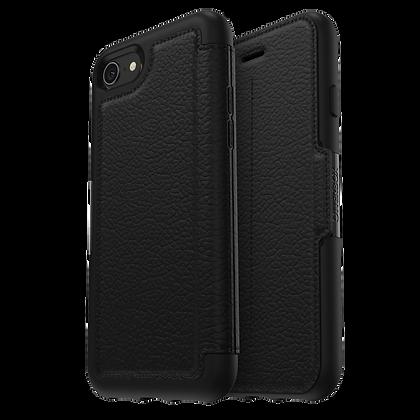 OtterBox Symmetry Series (Leather) w/ Alpha Glass iPhone 7/8/SE, Onyx