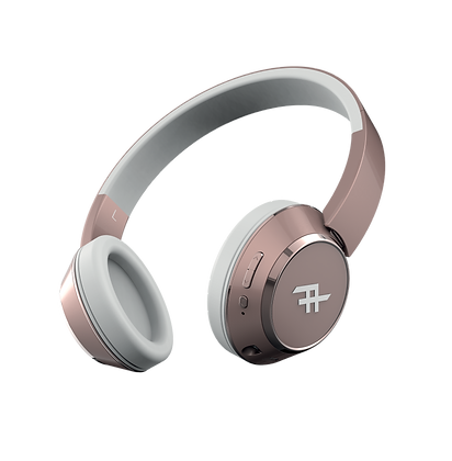 iFrogz Audio Coda Wireless Bluetooth Headphone with Mic, Rose Gold