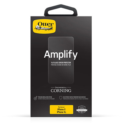 OtterBox Amplify Glass iPhone Xs, Clear