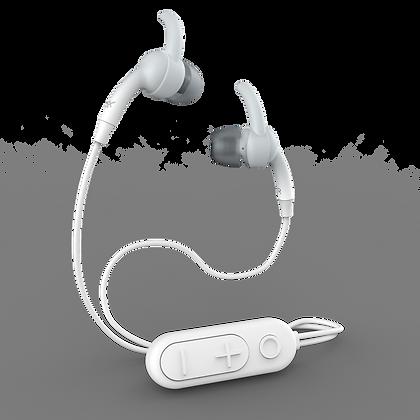 iFrogz Audio Sound Hub Plugz Wireless Earbuds, White/Gray