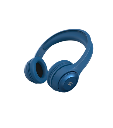 iFrogz Audio Aurora Wireless Bluetooth Headphone with Mic, Blue