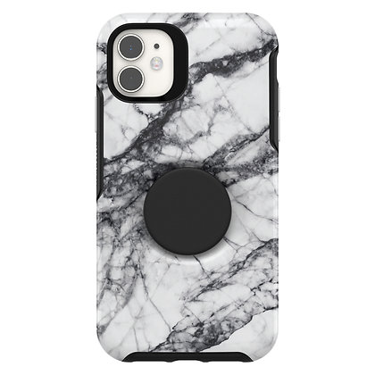 OtterBox Symmetry Series Otter + Pop iPhone 11, White Marble