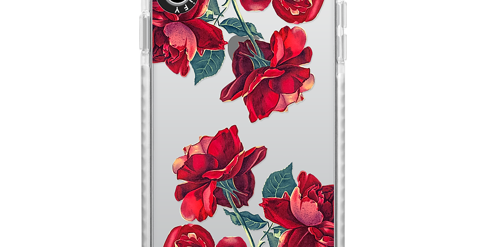 Casetify iPhone Xs Max Impact Case, Frost Red Roses
