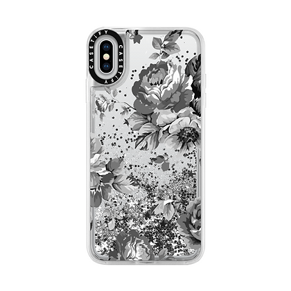Casetify iPhone Xs Max 6.5-inch Glitter Case, Monochrome Silver