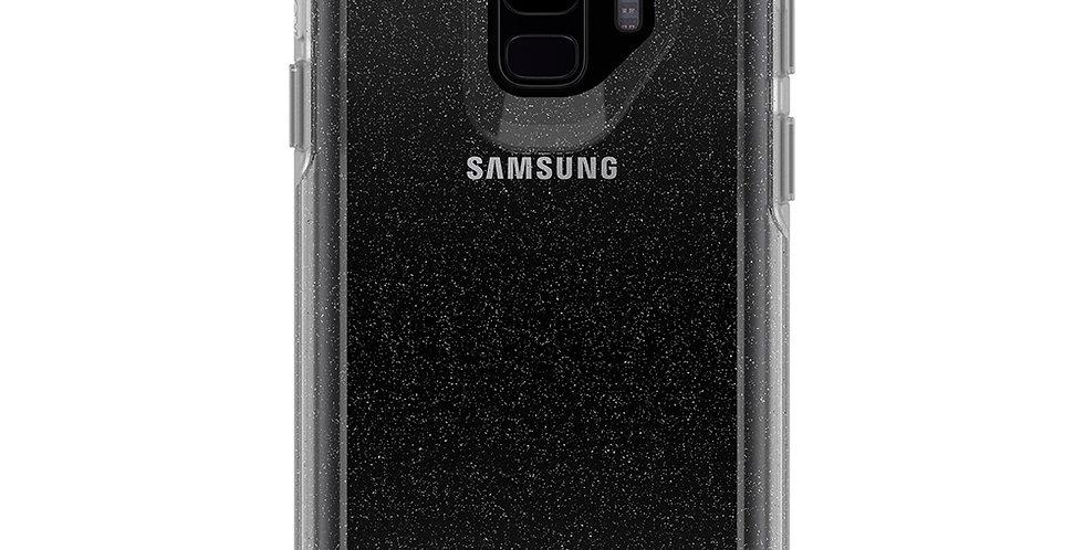 OtterBox Symmetry Clear Galaxy S9, Stardust (Silver/Clear)