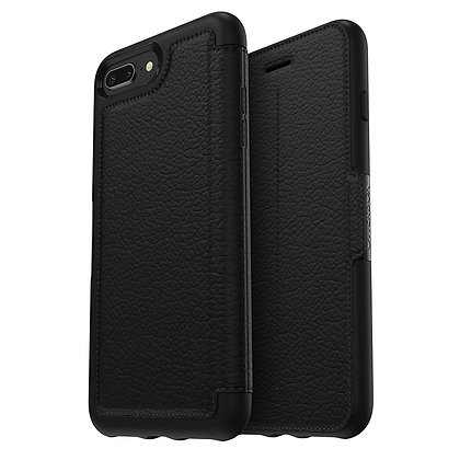 OtterBox Strada Series iPhone 8 Plus, Onyx (Black/Black/Black)
