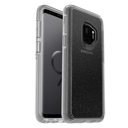 OtterBox Symmetry Clear Samsung Galaxy S9, Stardust (Silver/Clear)