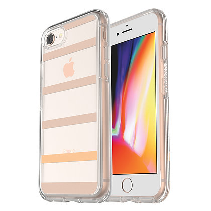 OtterBox Symmetry Clear Series iPhone SE/8, Graphic Inside The Lines