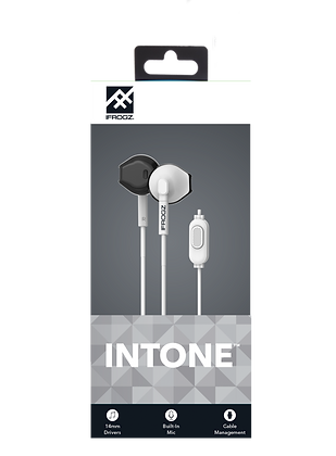 iFrogz Audio InTone Wired Earbuds with Mic, White