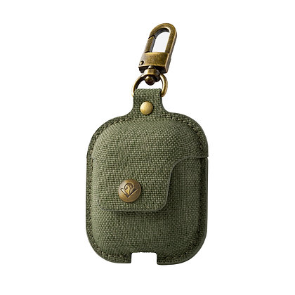 Twelve South AirSnap for AirPods (twill olive green)
