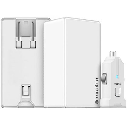 Mophie Dual Wall and Car Charger, White