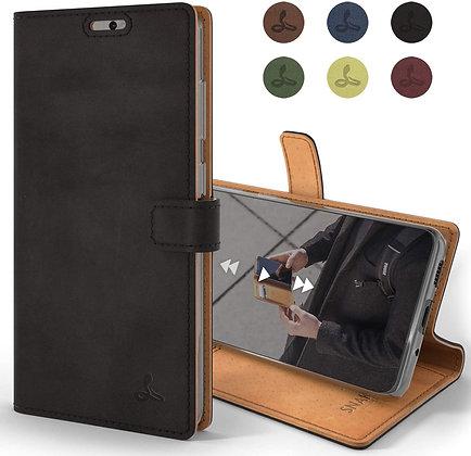 Komass Samsung Galaxy Note20 Ultra 5G Flip Case, Black