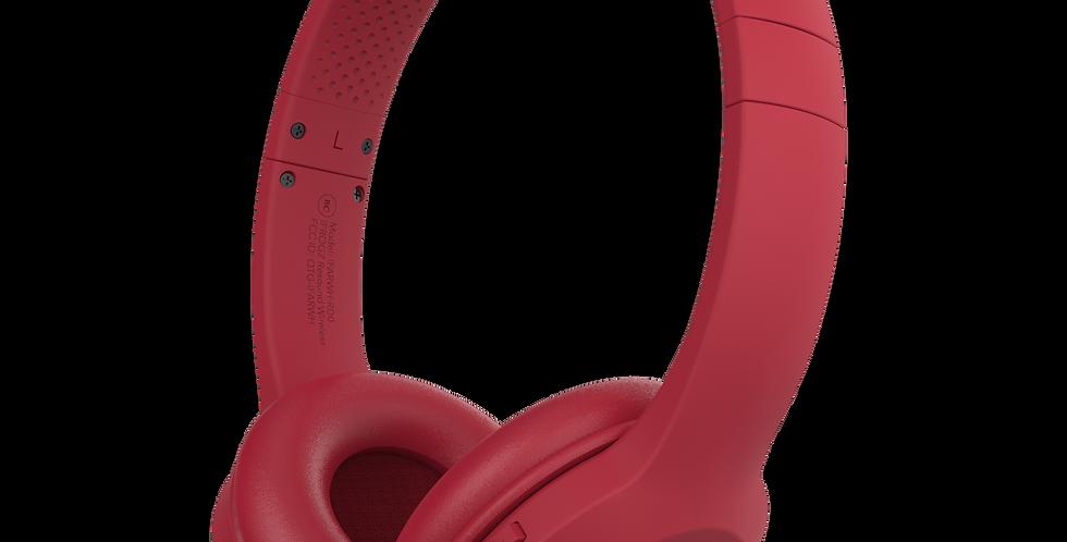 iFrogz Audio Resound Wireless Bluetooth Headphone with Mic, Red