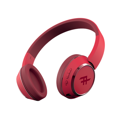 iFrogz Audio Coda Wireless Bluetooth Headphone with Mic, Red