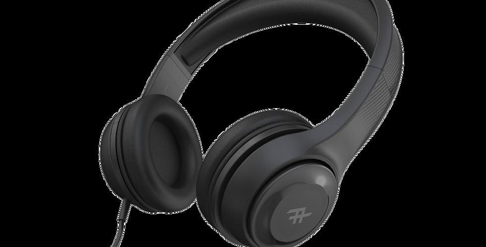 iFrogz Audio Aurora Wired Headphones with Mic, Black