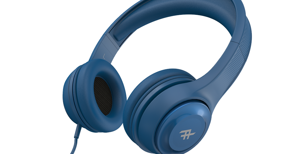 iFrogz Audio Aurora Wired Headphones with Mic, Blue