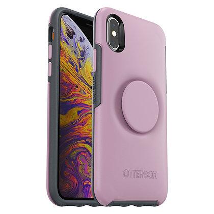 OtterBox Symmetry Otter + Pop iPhone Xs, Mauveolous