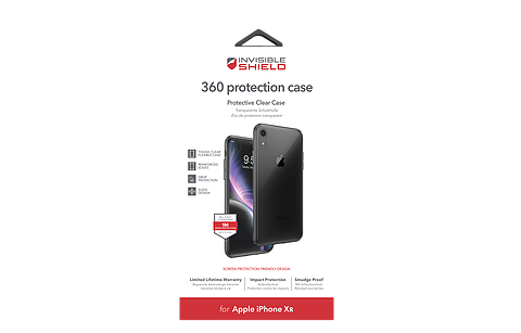 InvisibleShield iPhone XR 360 Protection Case, Ultra Clear
