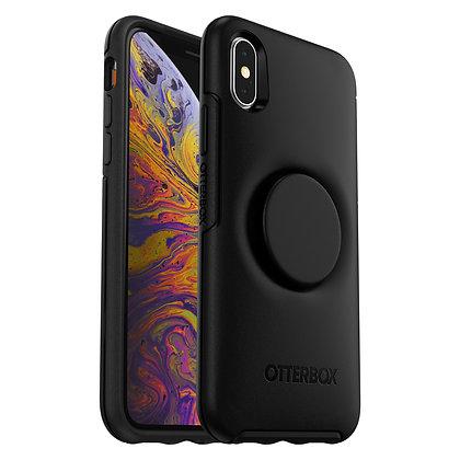 OtterBox Symmetry Otter + Pop iPhone Xs, Black