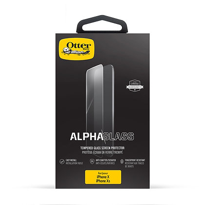 OtterBox Alpha Glass iPhone Xs, Clearly Protected